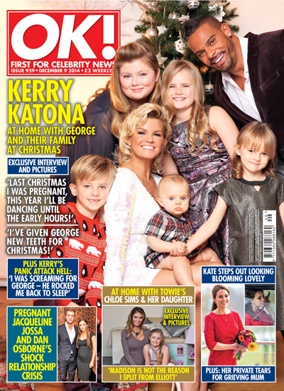 Kerry Katona, George Kay and family are the image of picture-perfect in this festive shoot