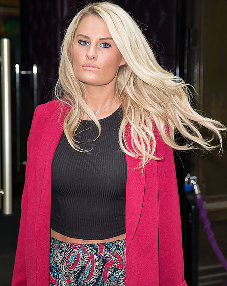 The TOWIE star was caught doing 35mph in a 30 zone [Wenn]