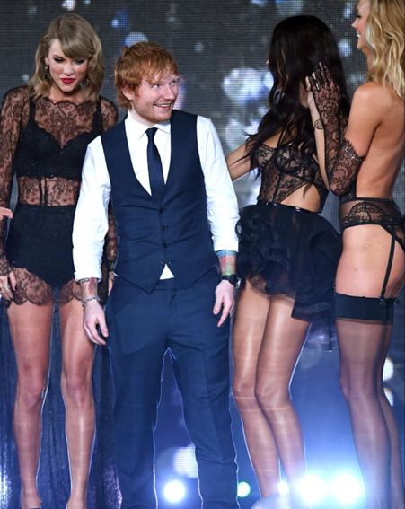 The Thinking Out Loud singer not could believe his luck [Rex]