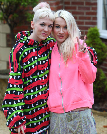 The sisters were first to be booted off The X Factor live shows [Wenn]