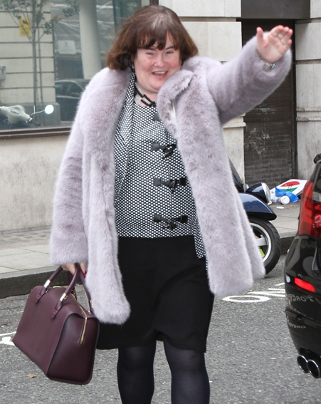 I'm chuffed Christmas has come early for Susan Boyle [Wenn]