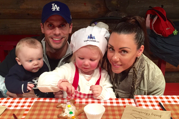 Faith and AJ loved everything about our Christmas-themed day out [Michelle Heaton]