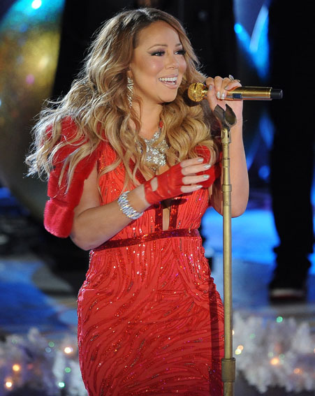 Mariah Carey looked gorgeous as she took her place on stage [Splash]