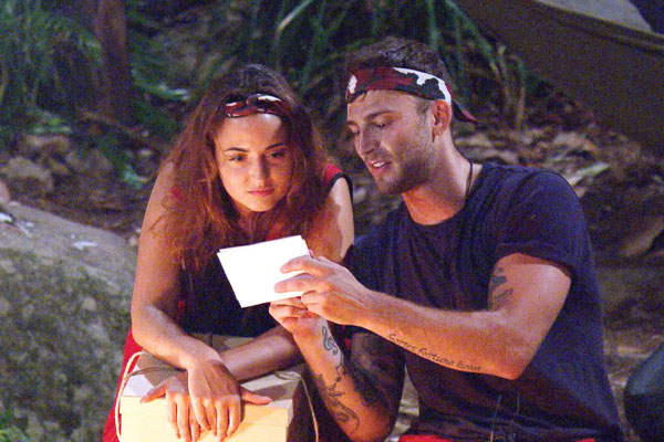 The good looking pair have planned a dinner date when Jake leaves the jungle [ITV]