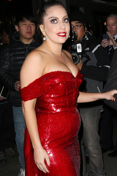 she s pregnant with her Lady Gaga Pregnant Belly