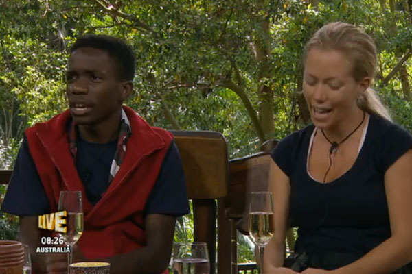 Tinchy Stryder and Kendra Wilkinson are voted out of the jungle [ITV]