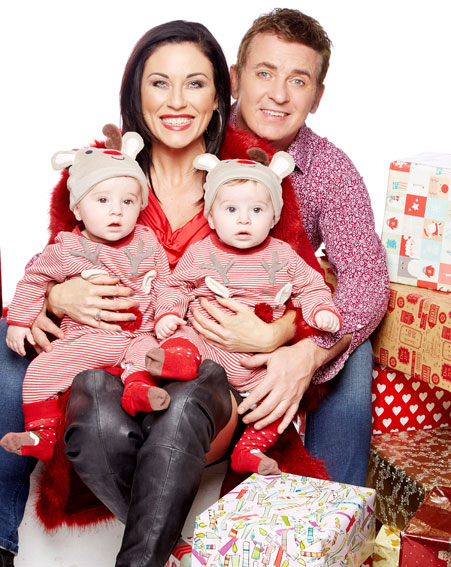 Kat and Alfie Moon pose with their adorable twins [BBC/Nicky Johnston]