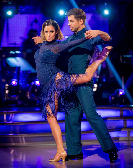 Caroline Flack wowed the judges yet again [BBC]