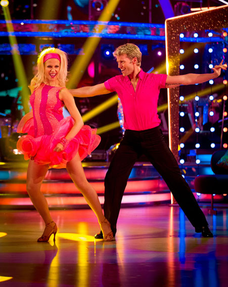 Pixie Lott came in second during the quarter final show [BBC]