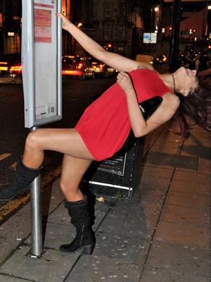 Geordie Shore's Chloe November straddles bus stop pole [Flynet]
