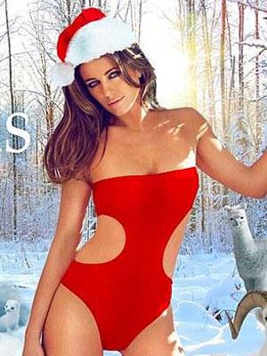 Liz Hurley sexy Christmas card [Twitter]